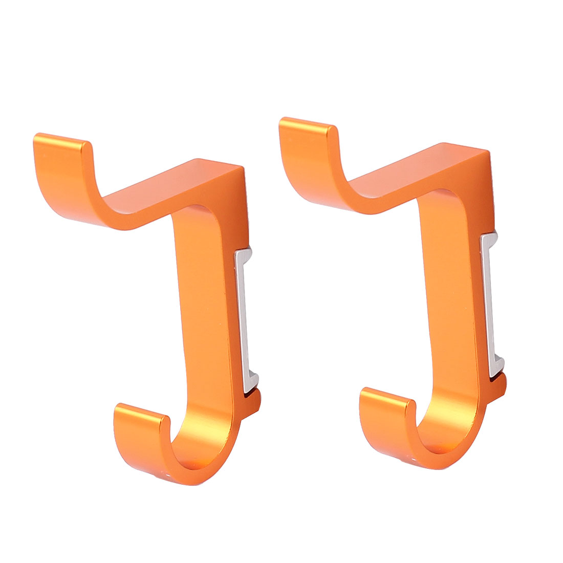 Bathroom Clothes Bath Towel Wall Mount Aluminum Hanging Hook Hanger 2 Pcs Orange