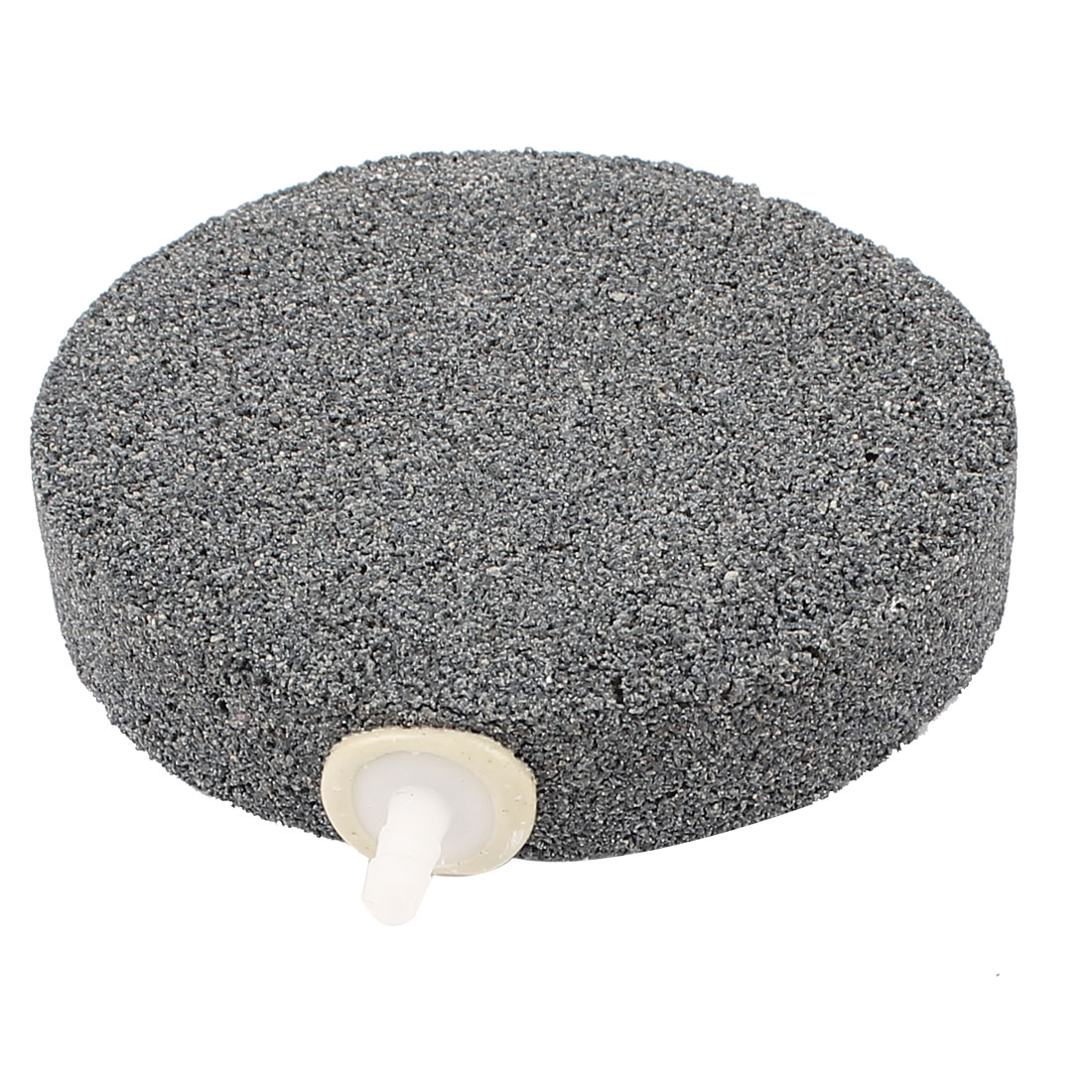 "Aquarium Fish Tank Round Diffuser Oxygen Bubble Air Stone 3.8"" Diameter Gray"