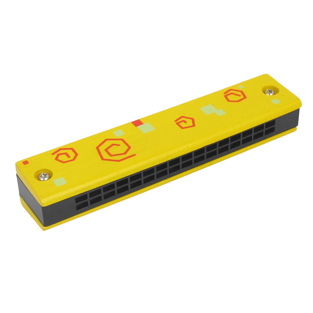 Kids Dual Row 32 Holes Harmonica Mouth Organ Muscial Instrument Yellow