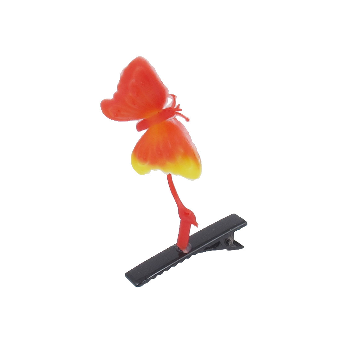 Plastic Butterfly Plant Headwear Hair Clips Hairpins Red for Girls