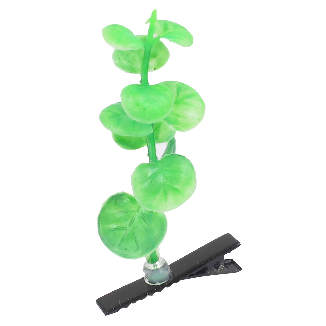 Girl Plastic Plant Weed Antenna Headwear Hair Clips Hairpins Green Black