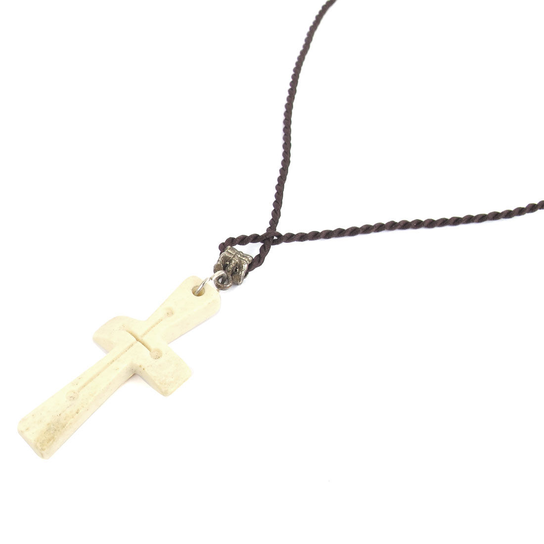 Plastic Cross Shape Pendant Adjustable Neck Cord Cool Necklace for Men