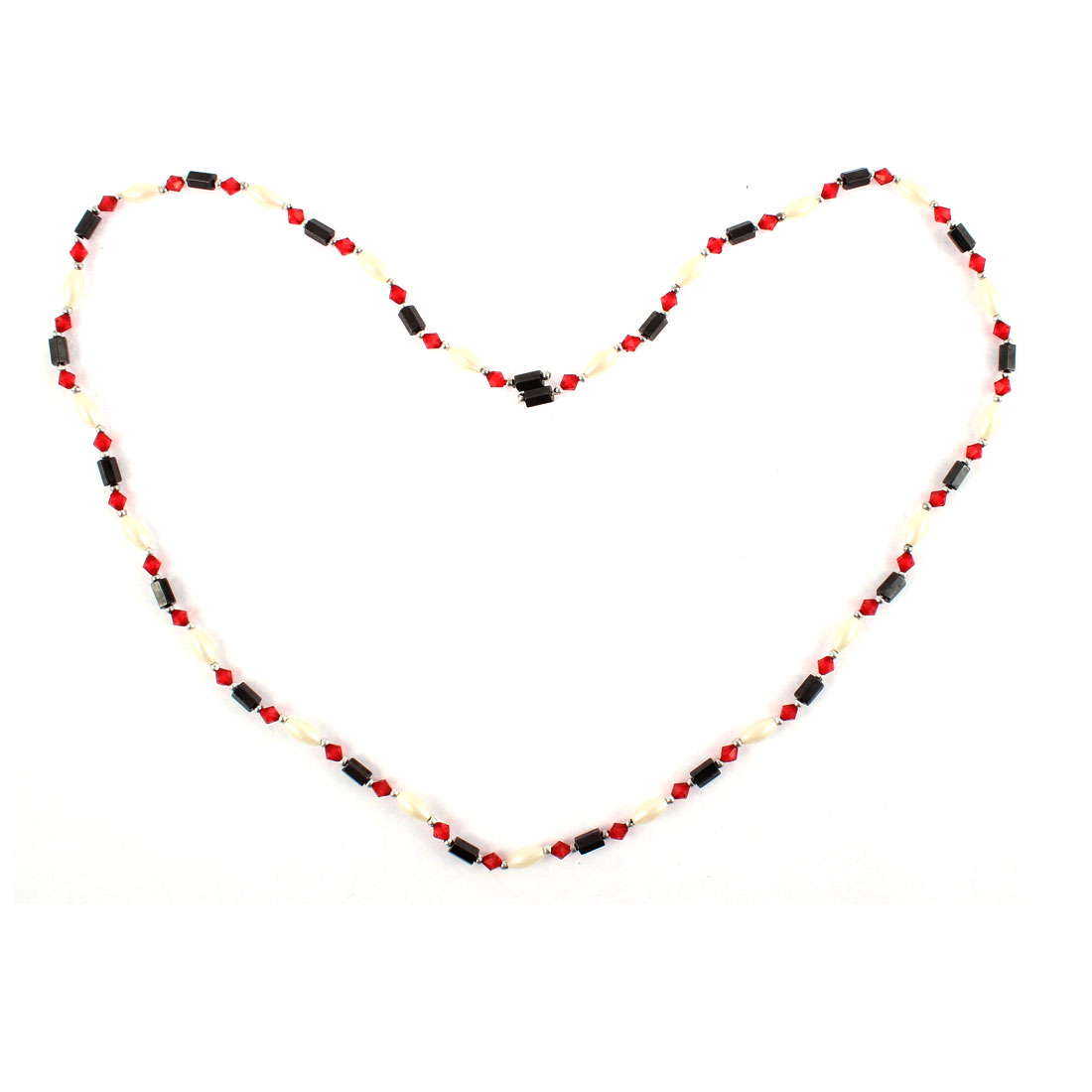Women Magnet Hematite Beads Magnetic Clasp Bracelet Choker Necklace Red