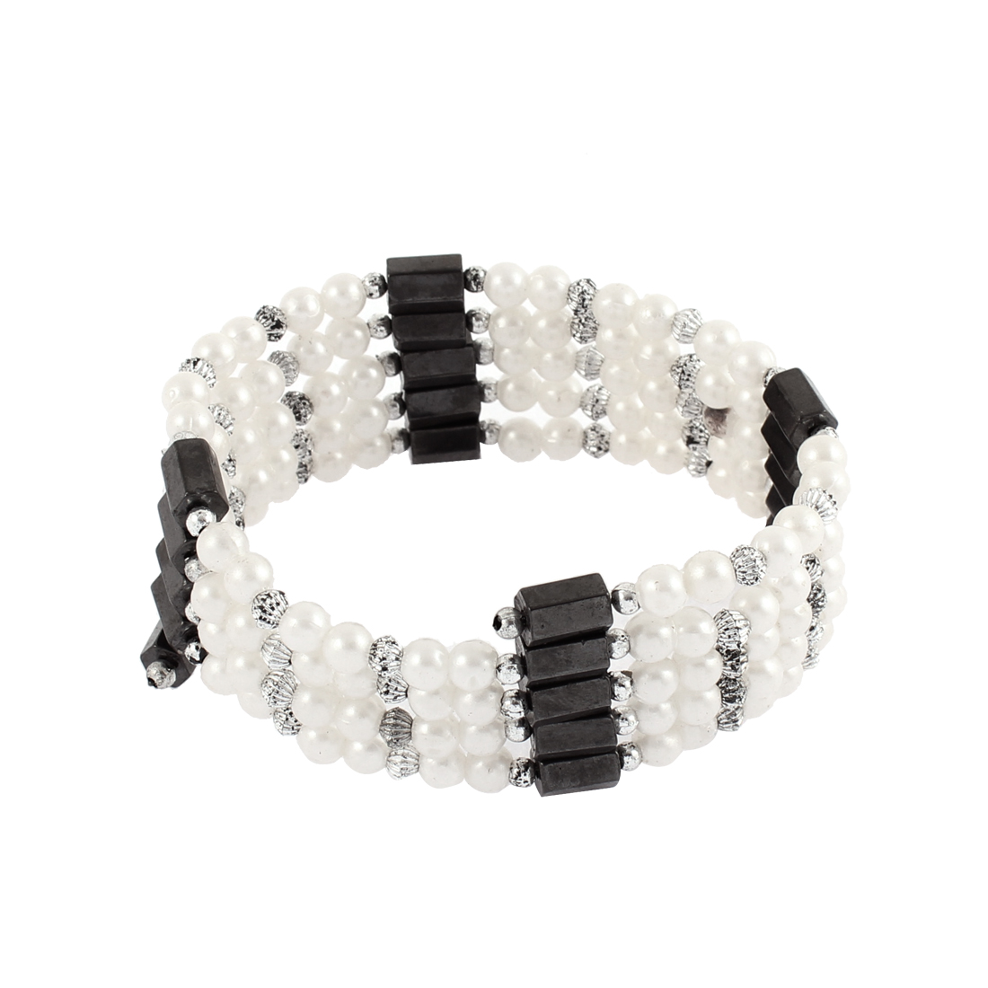 Women Magnet Clasp Hematite Magnetic Bracelet Choker Necklace White Black