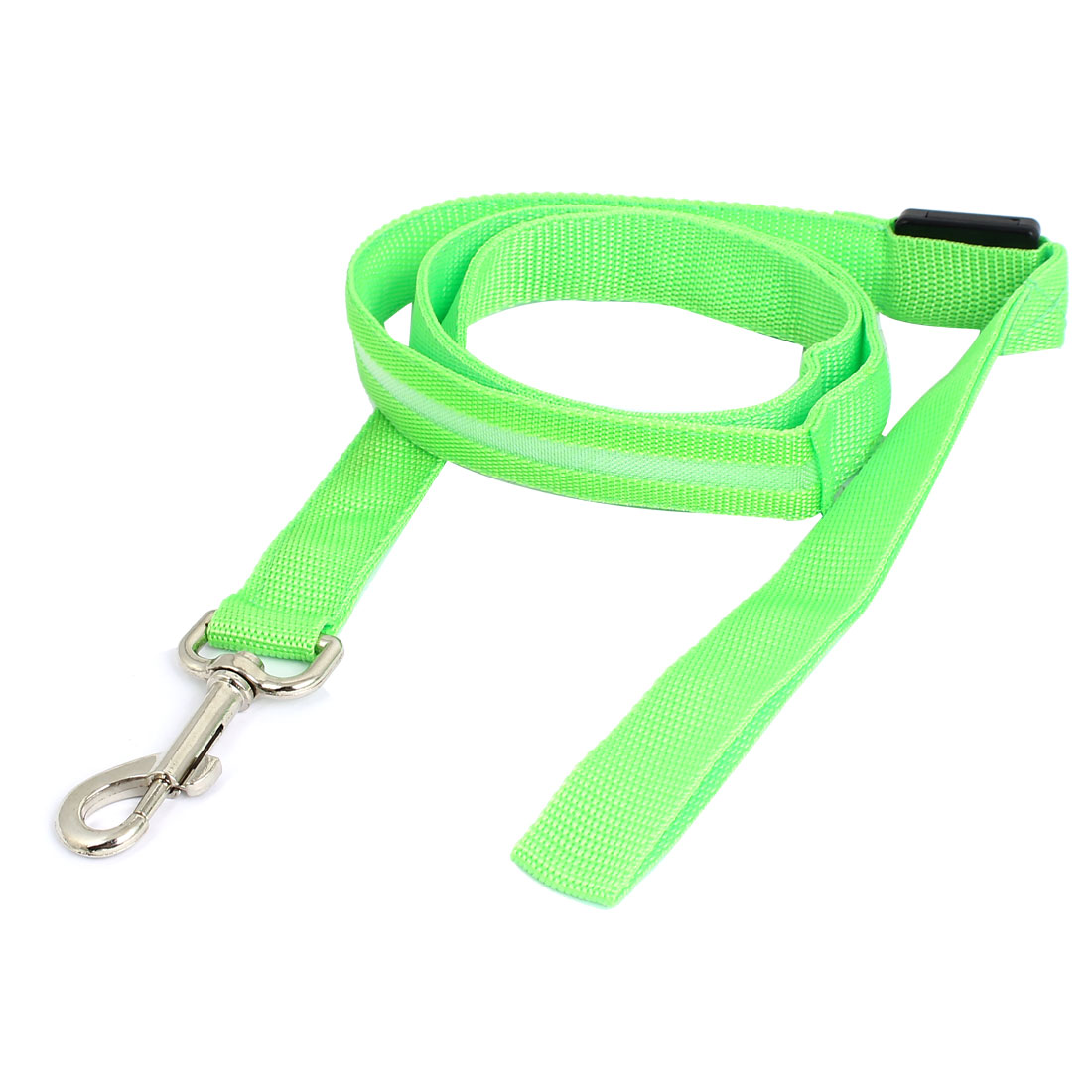 Green Puppy Dog Pet Safety LED Flash Light Leash Rope Strap 120cm Long w Trigger Hook