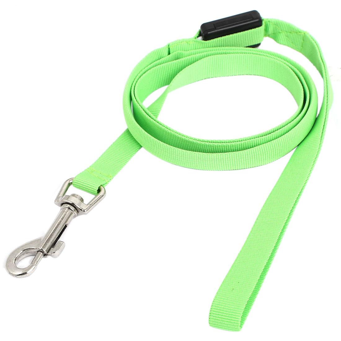 Pet Cat Dog Green Lighting Nylon Leash Harmess Lead Strap Rope 120cm Long