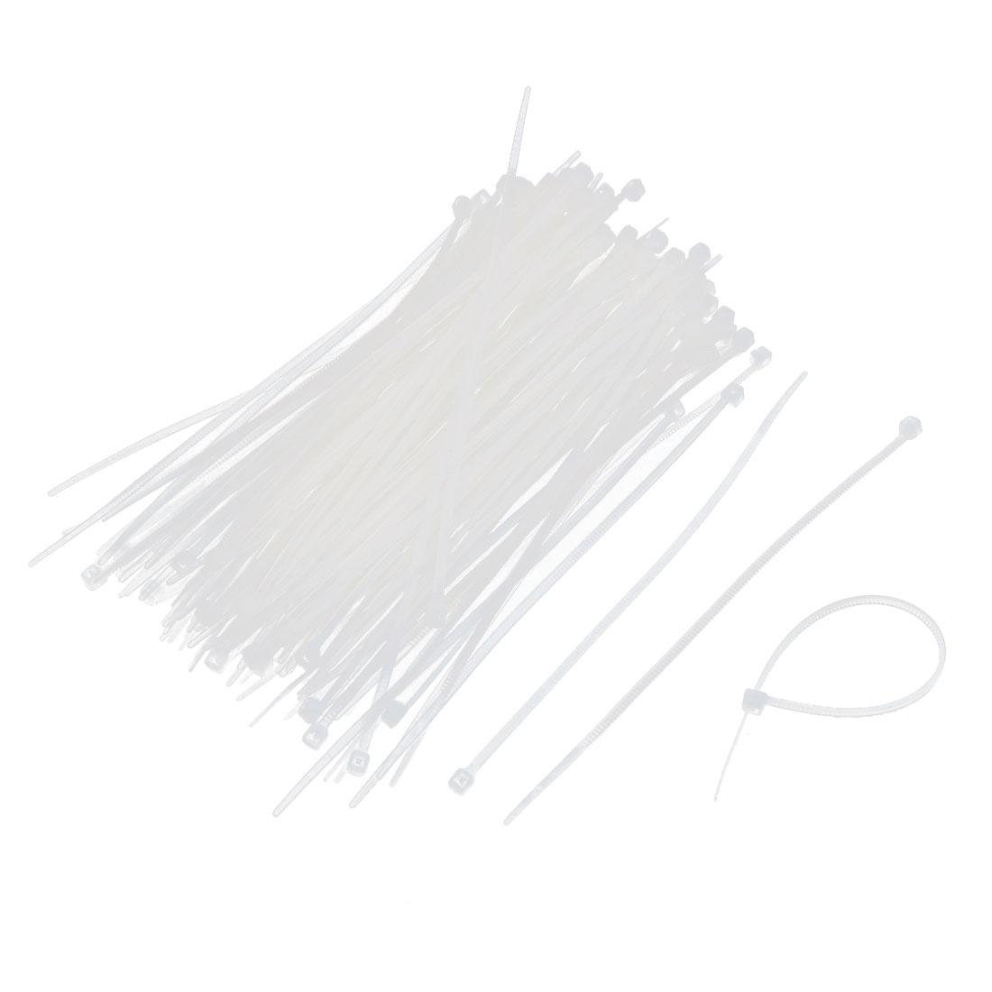 "4.5"" Length Nylon Self Locking Reusable Cable Wire Strap Zip Tie White 150pcs"
