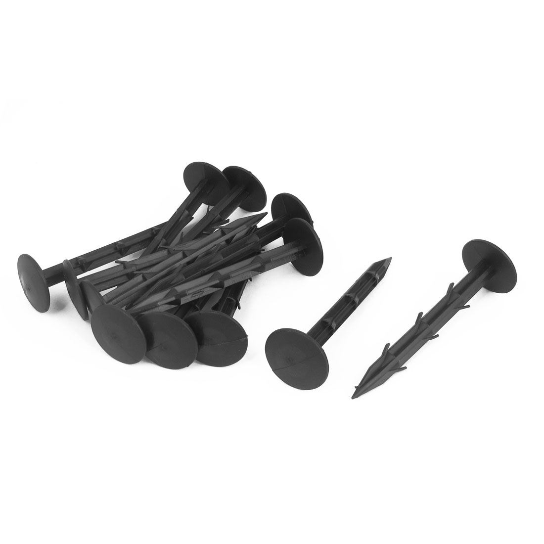 """12pcs 4.3"""" Long Barded Weed Control Mulch Membrane Tarpaulin Tent Fixing Anchor Securing Pegs Black"""