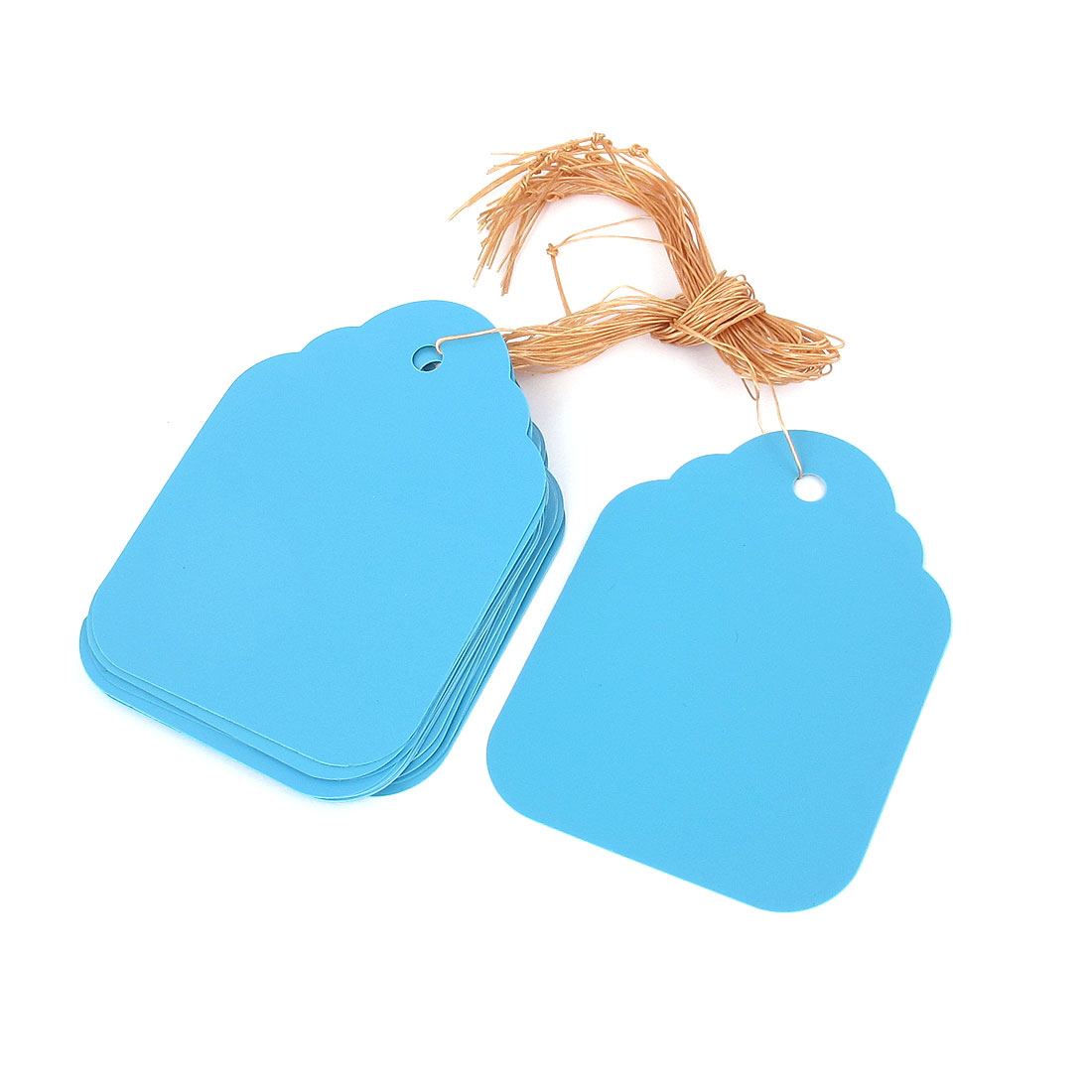 20pcs Plastic Nursery Garden Plant Seeding Hanging Name Tag Label Marker Blue
