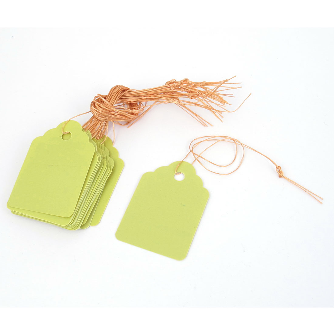 45mmx30mm Plastic Nursery Garden Plant Seed Hanging Tag Label Marker Yellow 20pcs