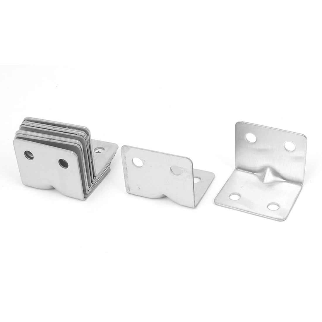 8pcs Stainless Steel Shelf Wall Corner Brace Right Angle Bracket 30mm x 30mm x 37mm