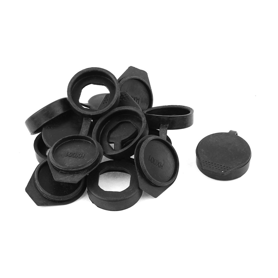 8 Pcs Black Round Soft Silicone Insulated Flat Protecting Socket Cover