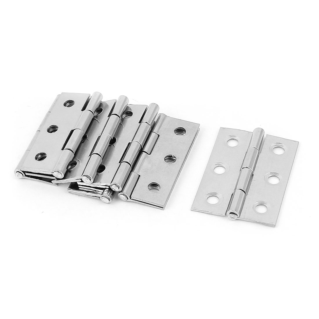 "7 Pcs 1.7"" x 1.2"" Stainless Steel Folding Furniture Cabinet Door Butt Hinge"