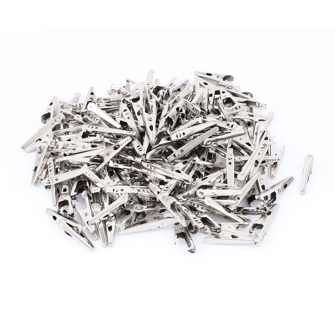 200Pcs Non-Insulated Electric Testing Alligator Clips Crocodile Clamps
