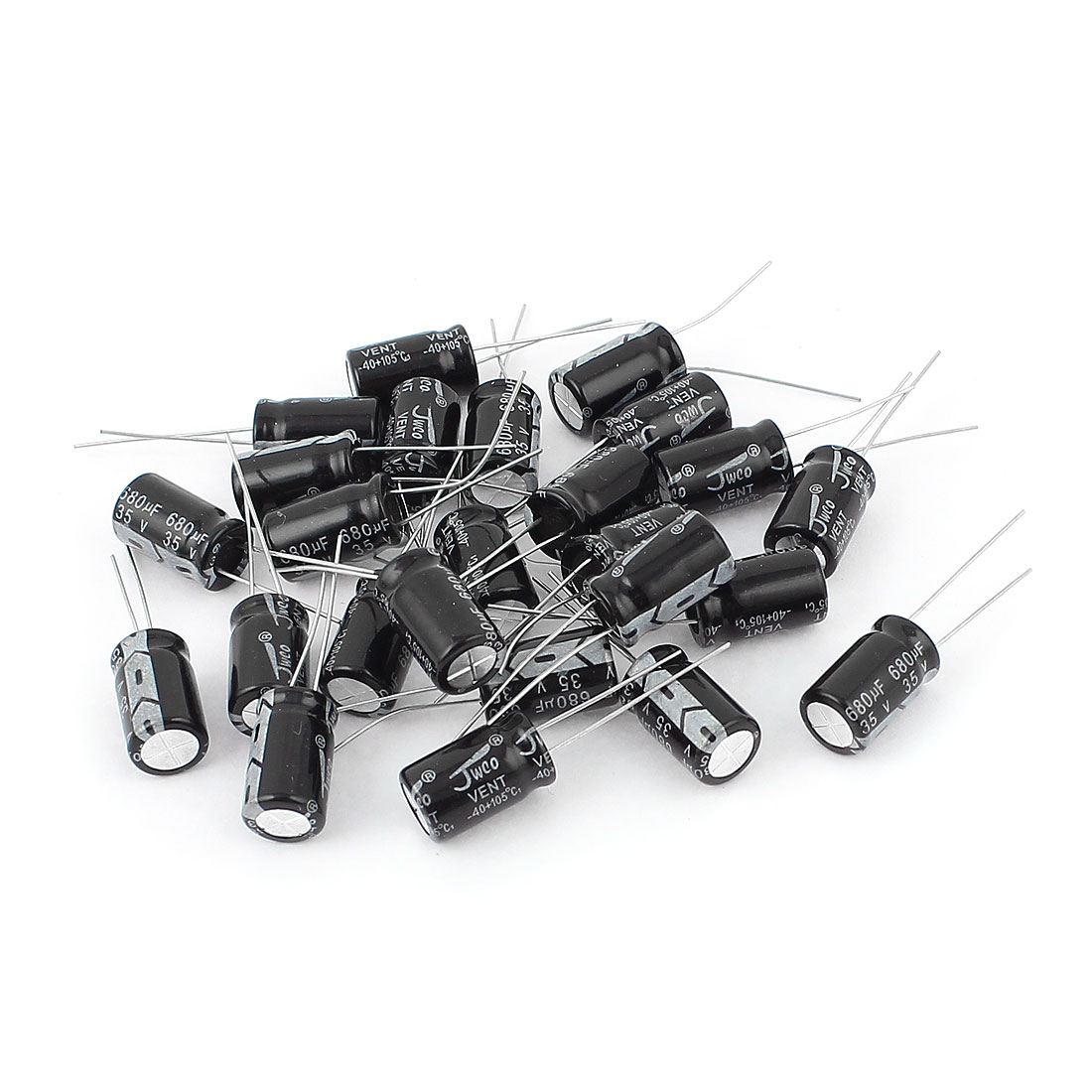 25pcs 10mm x 17mm Aluminum Radial Lead Electrolytic Capacitors 680uF 35V