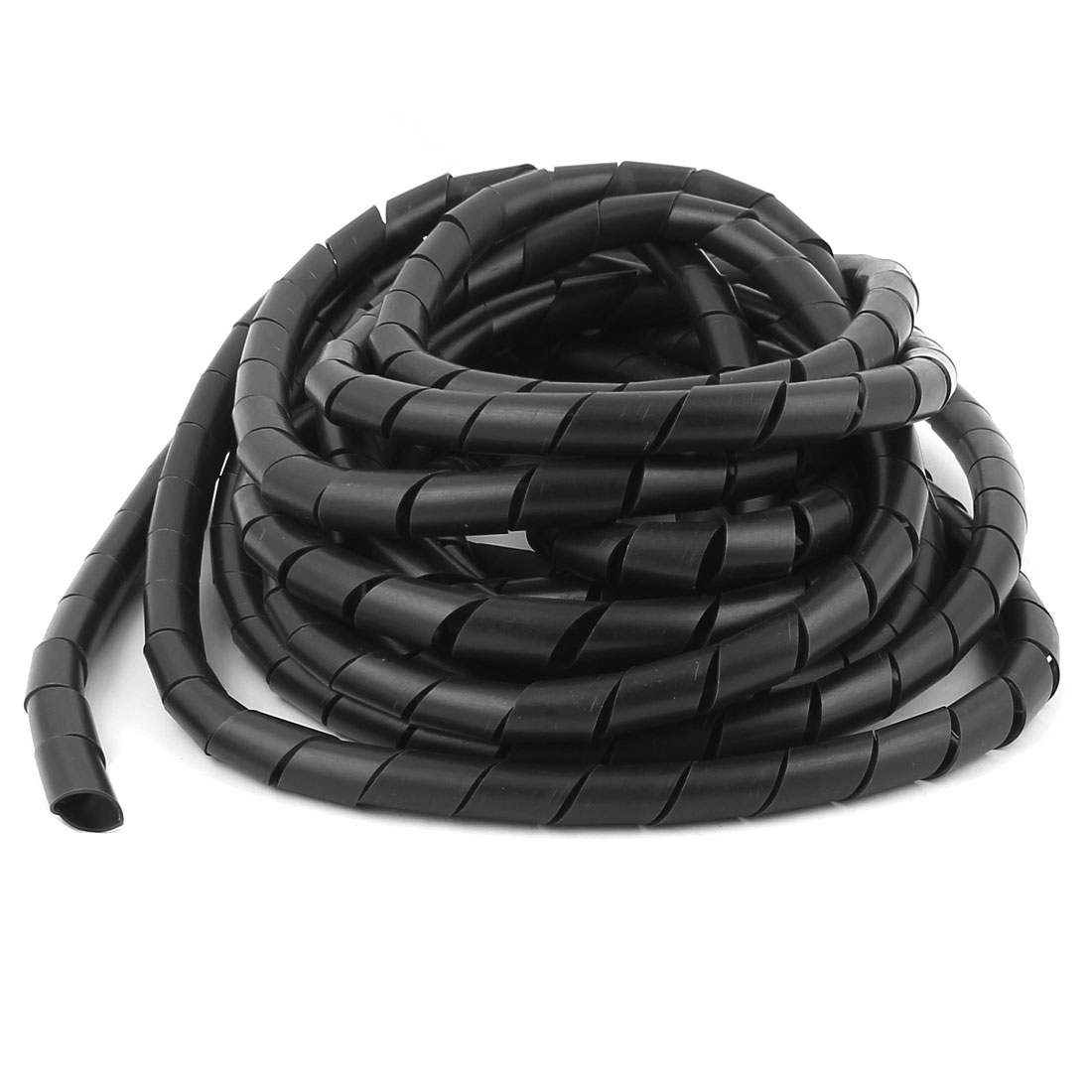 14mm Dia 4.5M 14.8Ft Long Spiral Cable Wire Wrap Tube Cord Pipe