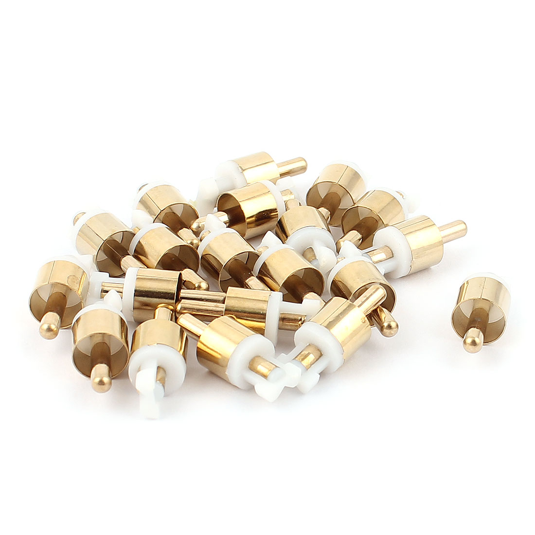 20Pcs Male Plug Head RCA Audio Video Connector Adapter