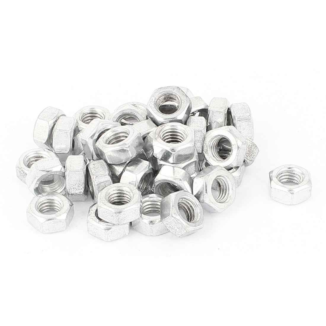 38 Pcs Metric M8 Hex Nuts Metal Fasteners for Screw Bolt