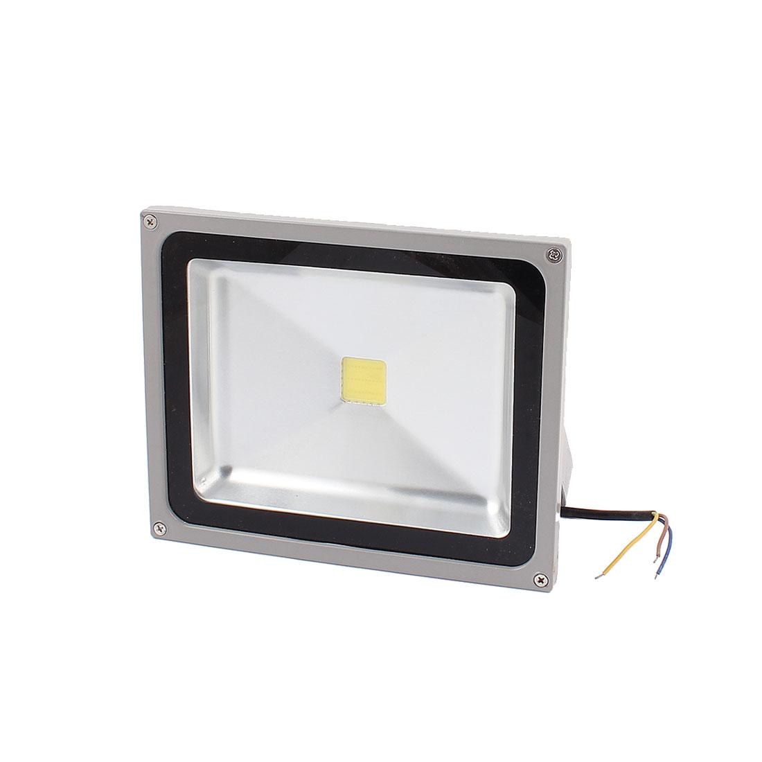 AC 90-260V 3 Wire 50W White LED Building Garden Flood Light Spotlight