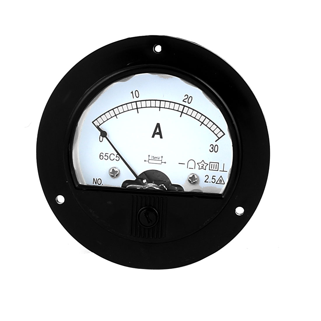 DC 30A Analogue Panel Ampmeter Current Meter Gauge Analog Ammeter