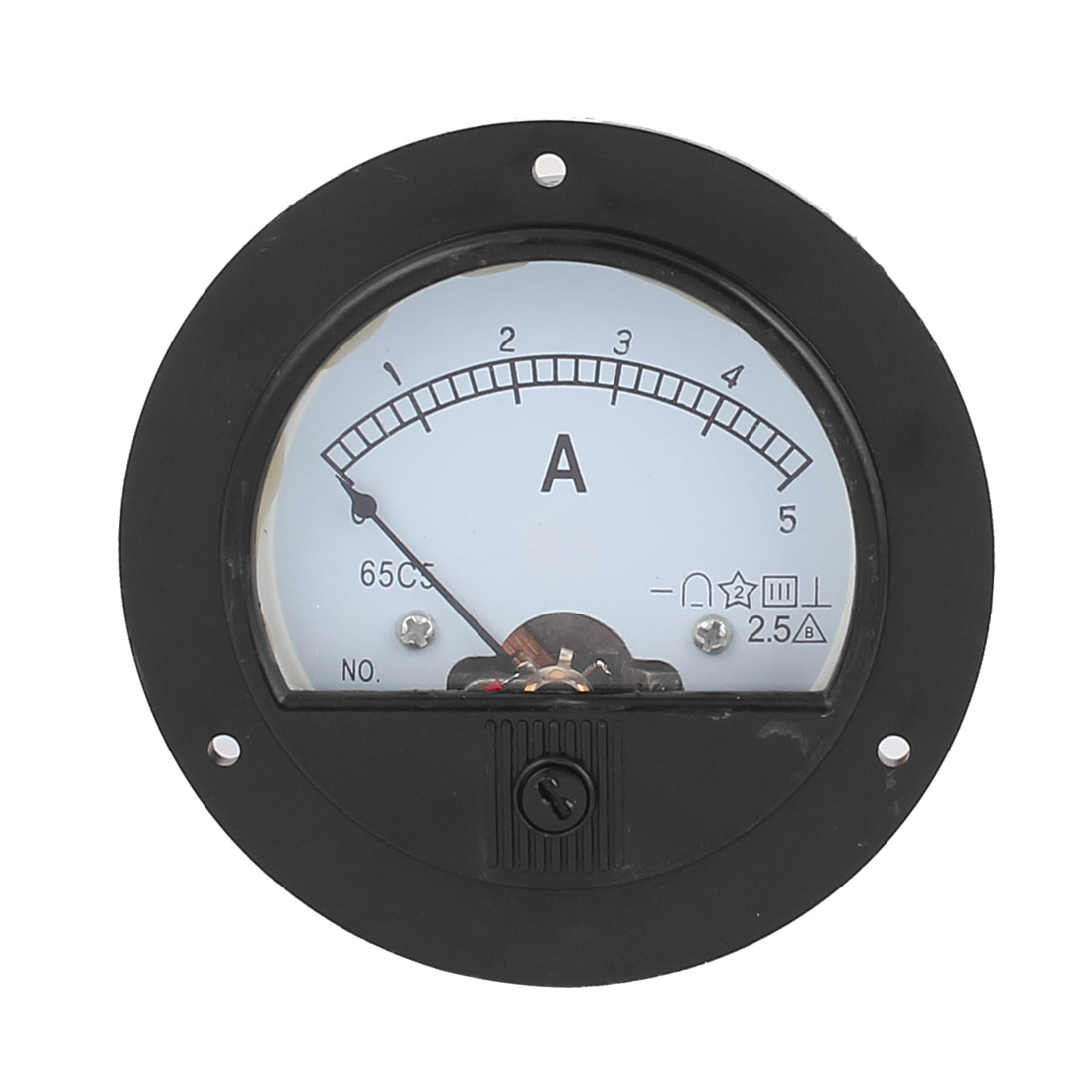 DC 0-5A Analogue Panel Current Meter Gauge Analog Ammeter