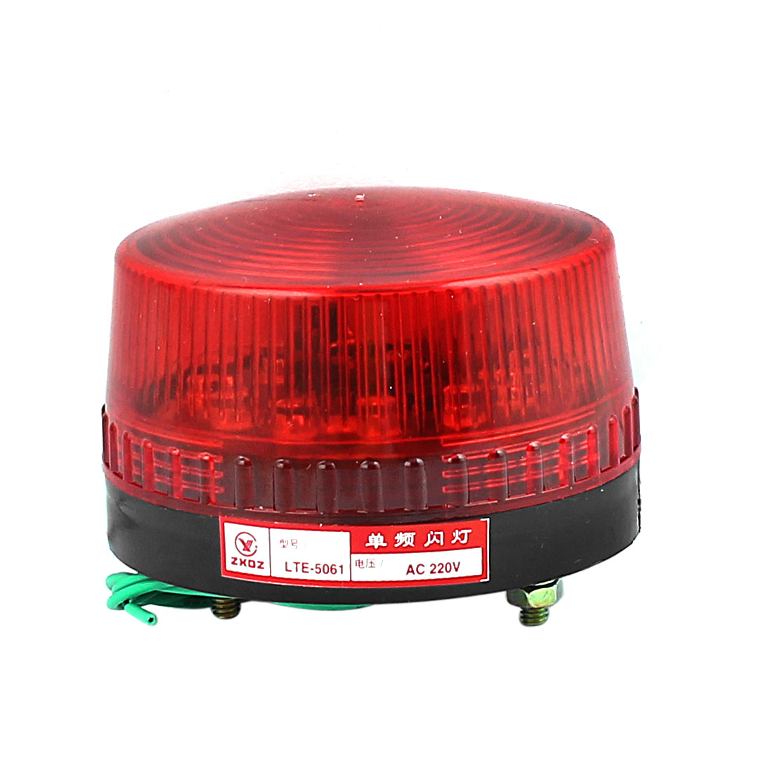 AC 220V Industrial LTE-5061 LED Flash Light Emergency Warning Lamp Red