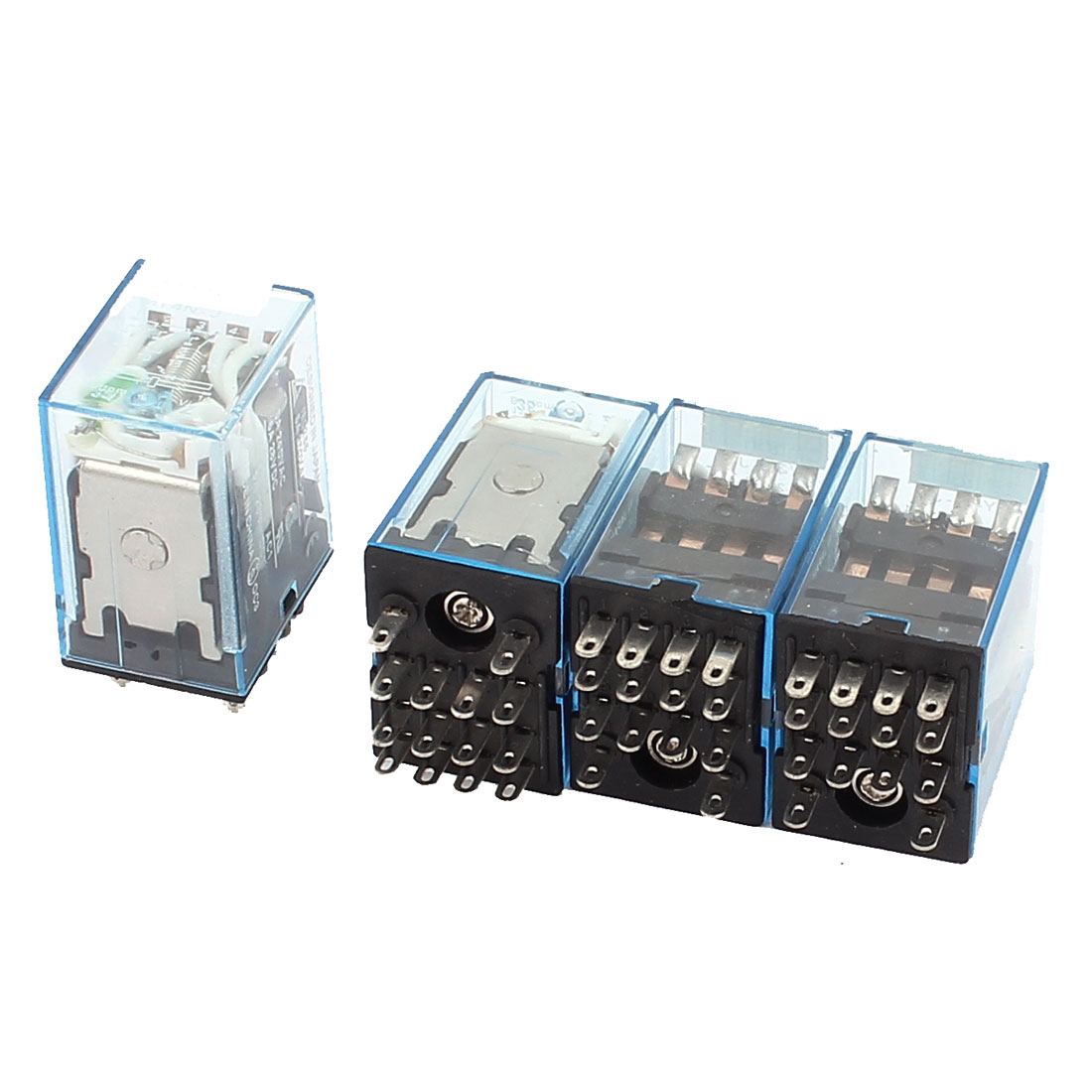 MY4N-J DC 12V Coil Voltage 14Pin 4PDT Power Electromagnetic Relay 4pcs