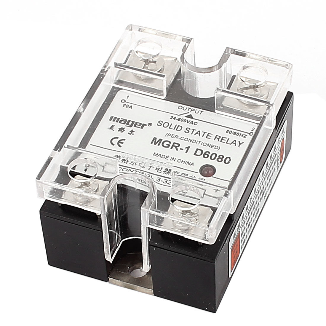 DC-AC DC 3-32V 4A Input to AC 24-600V 80A Output Solid State Relay