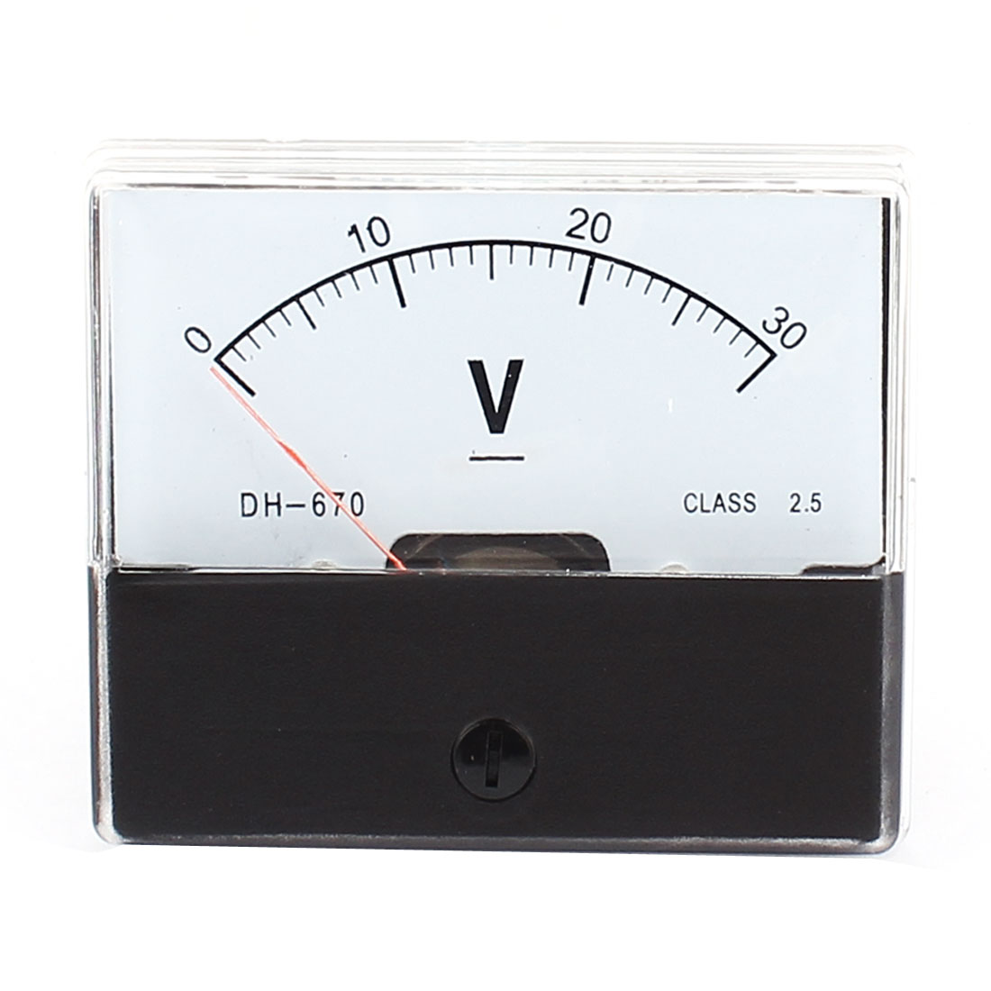 DH670 DC 0-30V Voltage Analogue Needle Panel Meter Voltmeter
