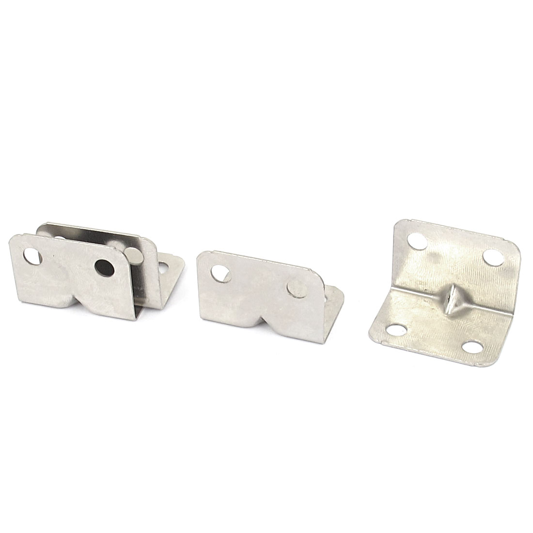 Furniture Cabinet Door Fastener Corner Braces Plate Right Angle Brackets 4 Pcs