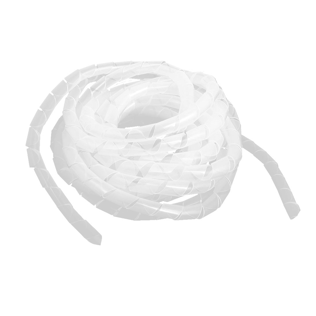 12mm Outside Dia 6.5m 21Ft Clear Spiral Cable Wire Wrap Tube Cord Pipe