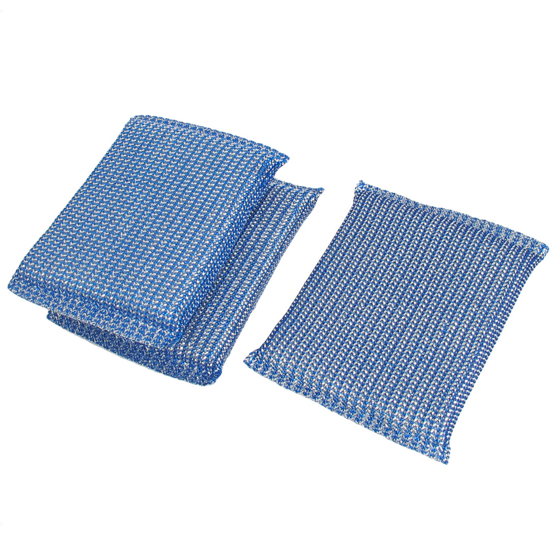 Home Kitchen Dish Bowl Pot Cup Cleaner Scrubing Pads Cleaning Tool Blue 3pcs