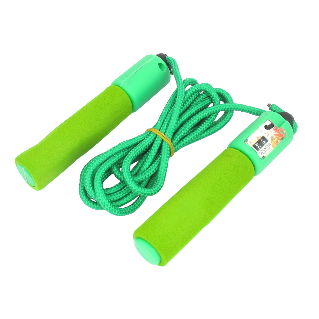 8Ft 2.5m Length Green Nonslip Handle Resettable Counter Adjustable Skipping Jump Jumping Rope