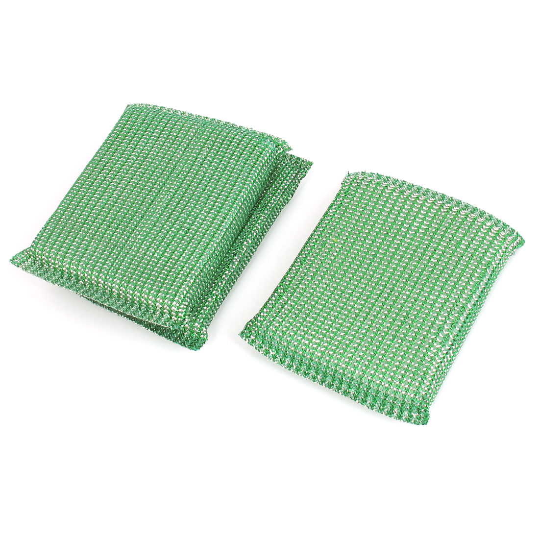 Kitchenware Dish Bowl Pot Cup Cleaner Scrub Pads Cleaning Tool Green 3pcs