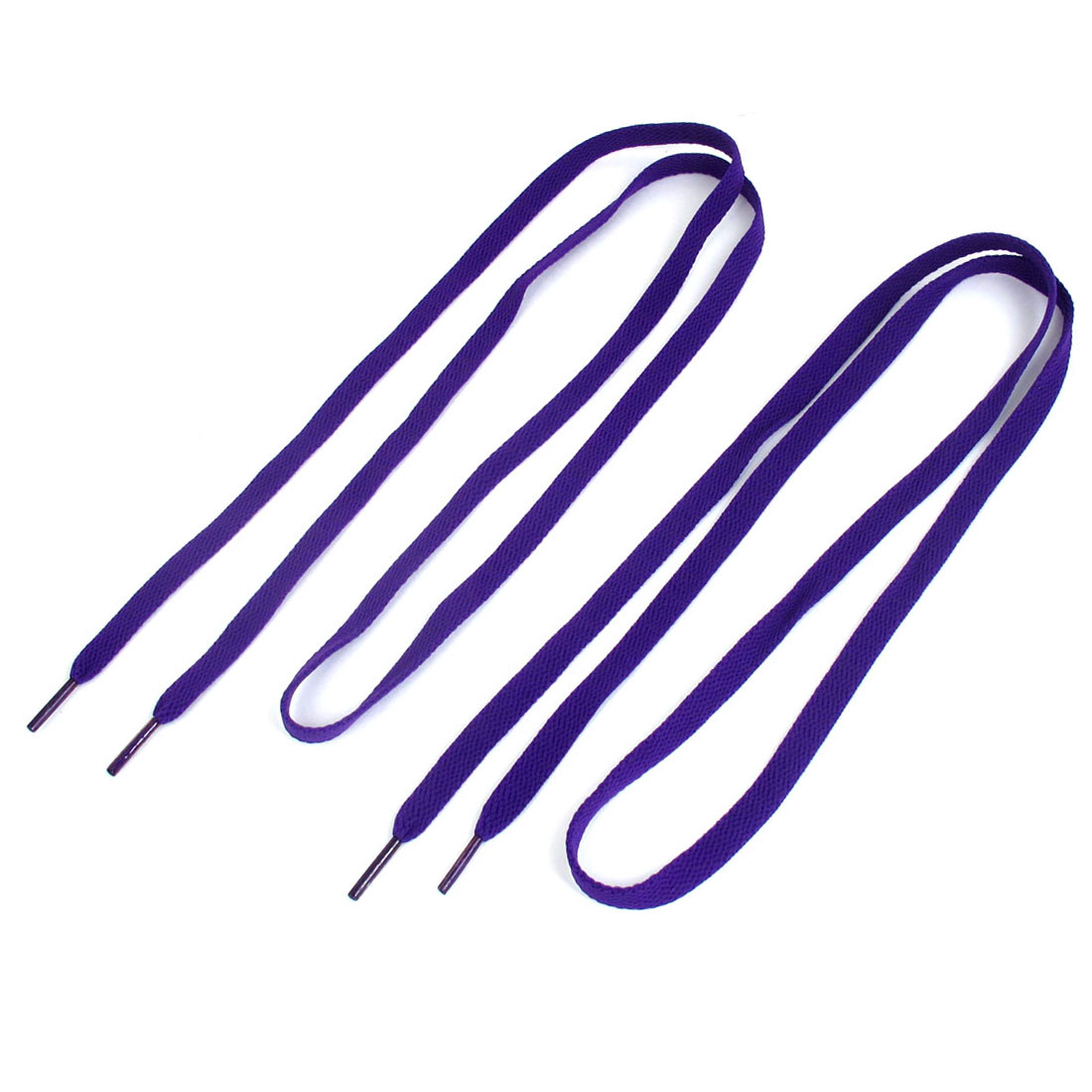 Pair Purple Nylon Flat Cord Shoe Laces Shoelaces Shoestring for Sneakers Sports Shoes