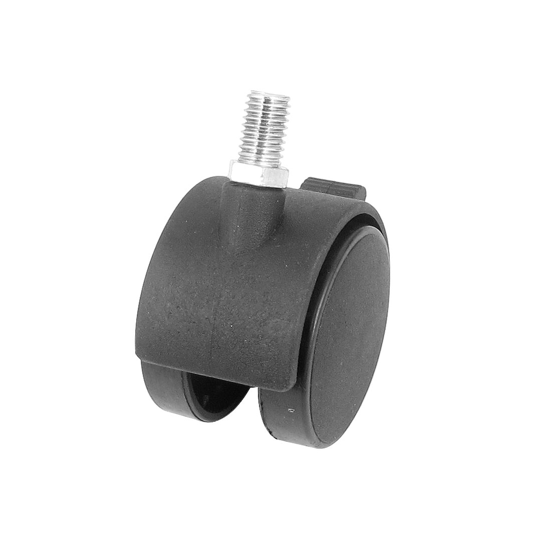 Table Chair 10mm Threaded Stem Connector Plastic Double Wheel 360 Degree Rotation Swivel Brake Lock Caster