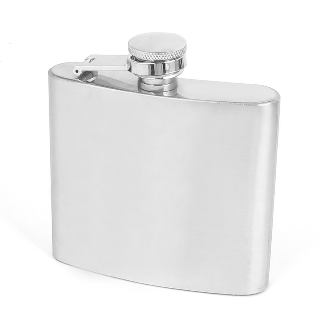 Portable Silver Tone Stainless Steel Whisky Vodka Wine Liquor Container Pocket Hip Flask 150ML 5 Oz Capacity
