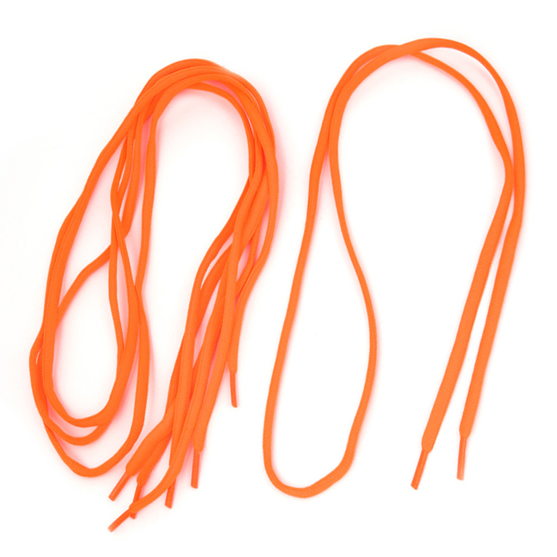 2 Pairs 110cm Long Orange Nylon Round Cord Shoe Laces Shoelaces Shoestring for Sneakers Shoes