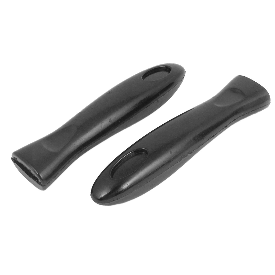 2pcs 16cm Long Black Plastic Fry Pan Pot Holder Handle Grip Handgrip Cooking Tool