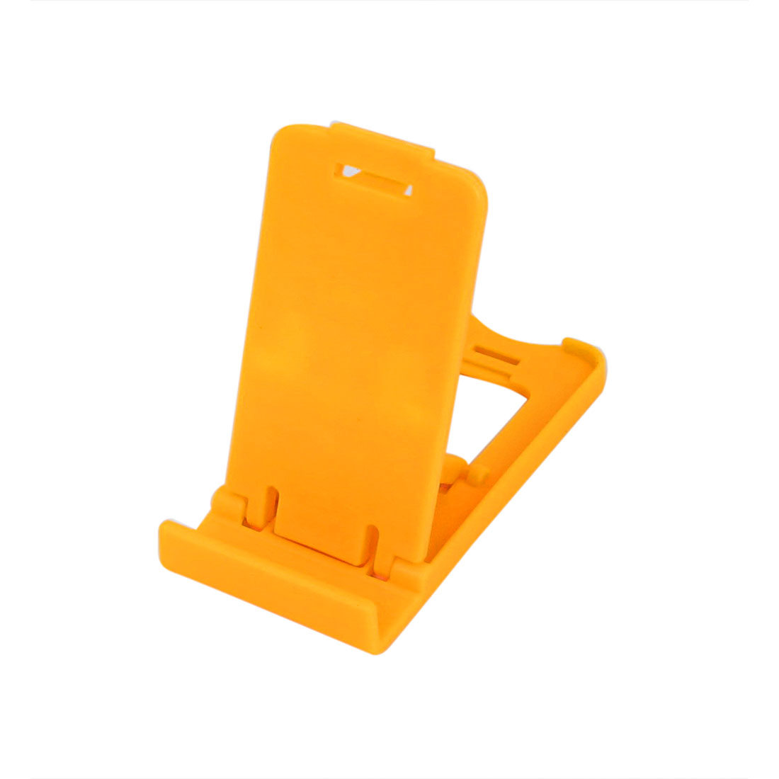 Yellow Plastic Foldable Desk Desktop Stand Holder Support Bracket for MP4 iPad iPhone Cell Phone