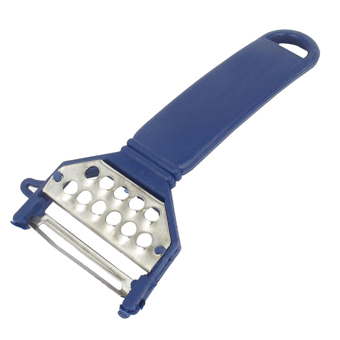 Kitchen Plastic Grip Vegetable Fruit Potato Peeler Parer Slicer Peeling Cutter Tool Blue