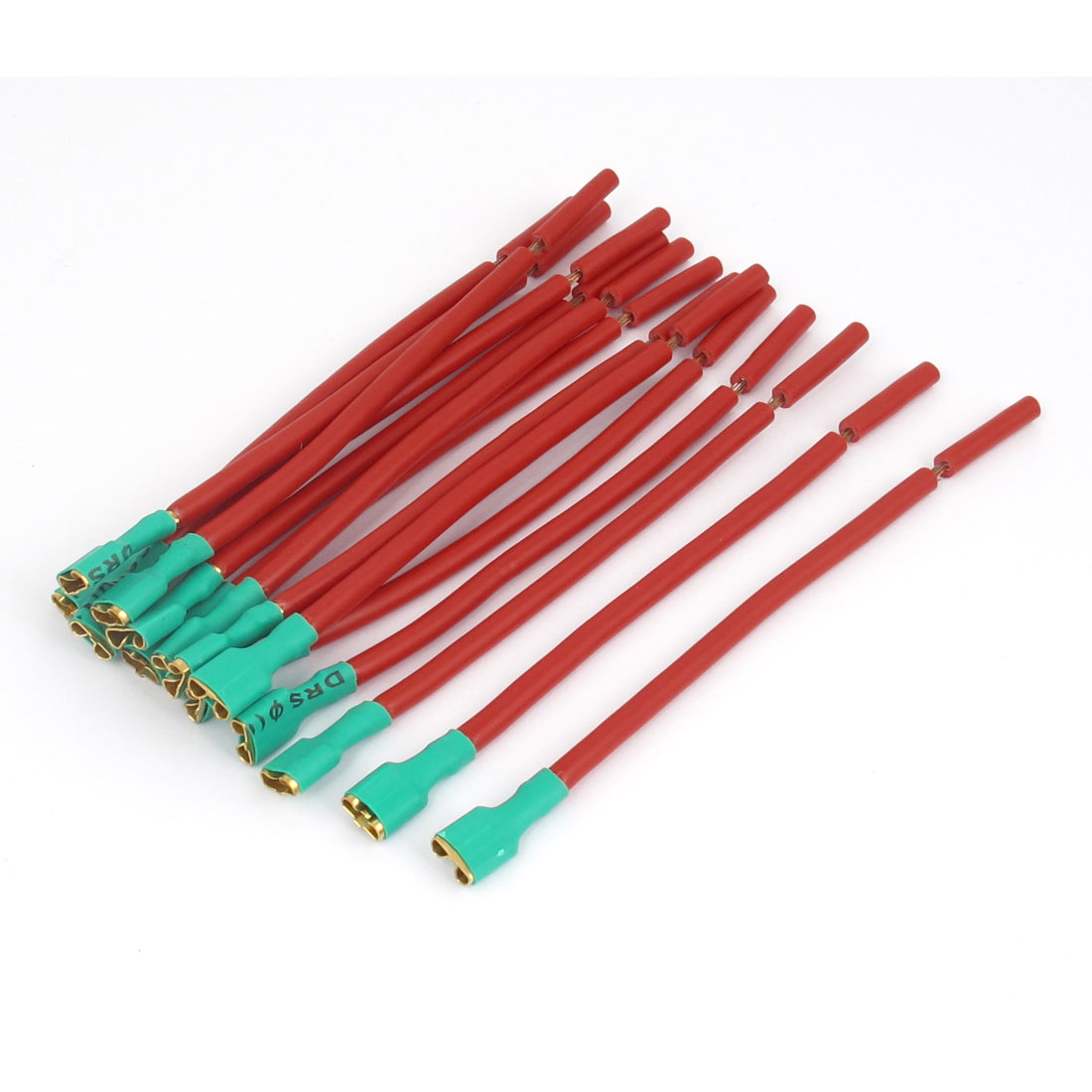 Motorcycle Car Speaker Insulation Terminal Cable Connector 13cm Length Red Green 15pcs