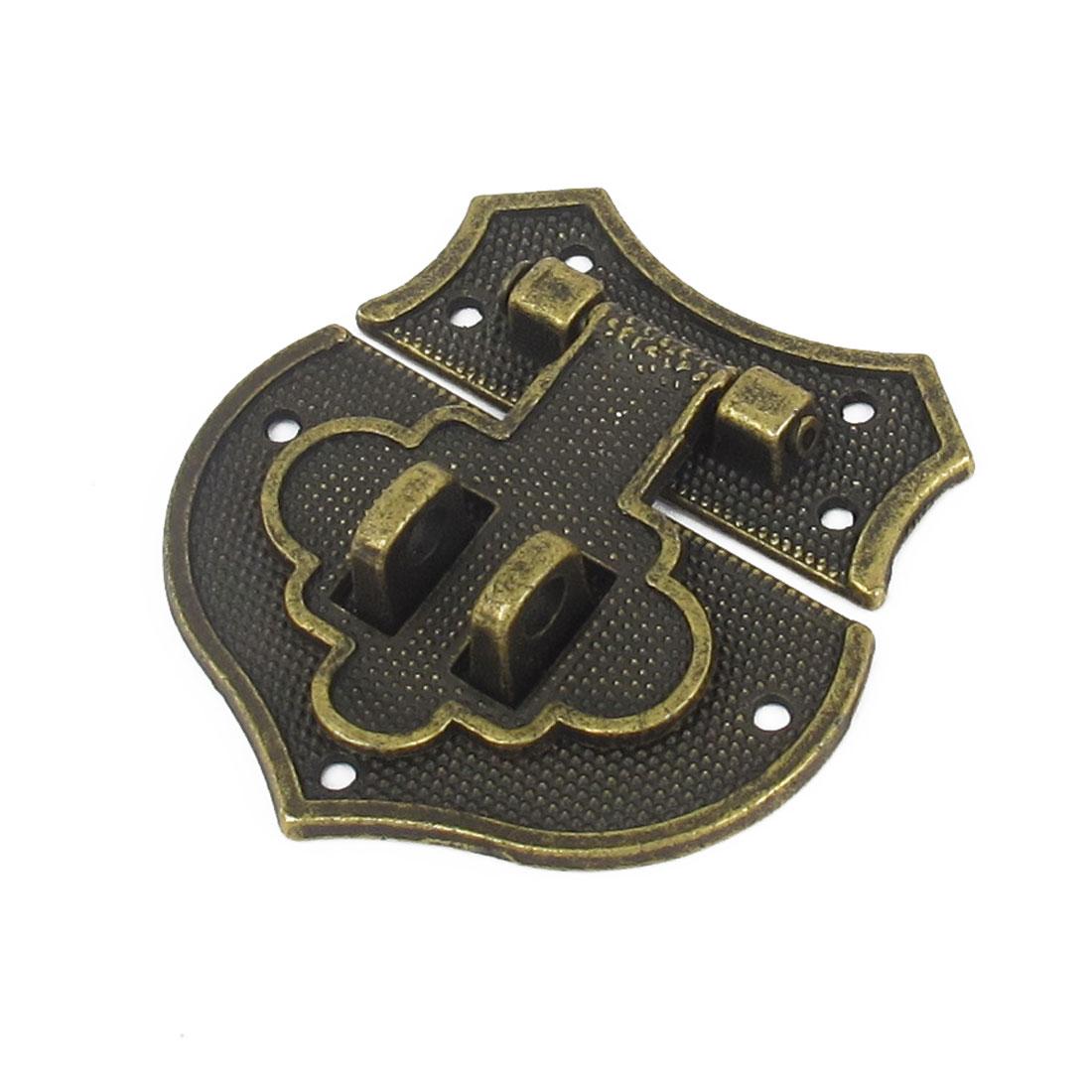 Bronze Tone Metal Antique Suitcase Jewelry Box Case Hasp Latch Chest Lock Locking Decor