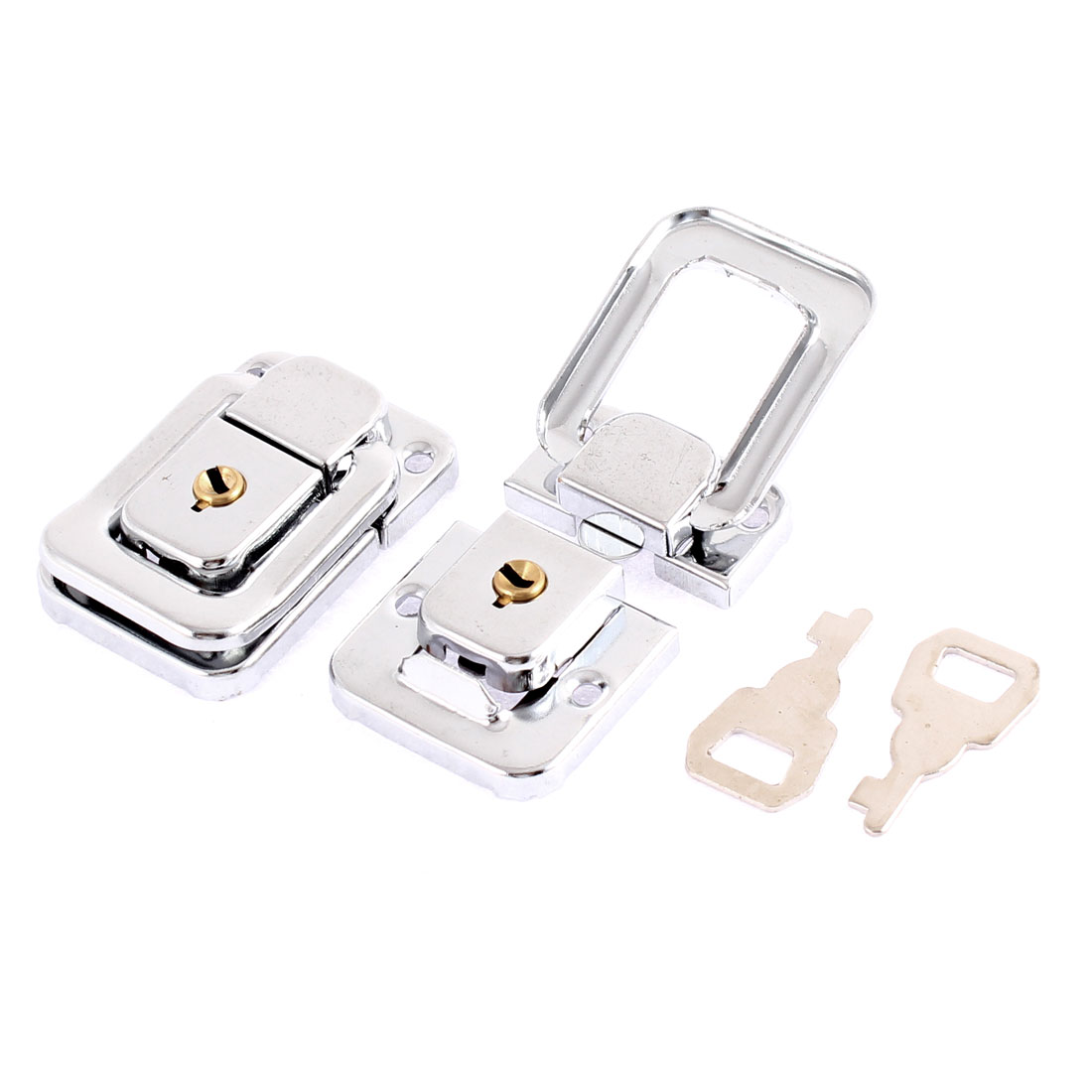 2 Pcs Spring Loaded Suitcases Case Box Hasp Latch Lock 47mm x 32mm