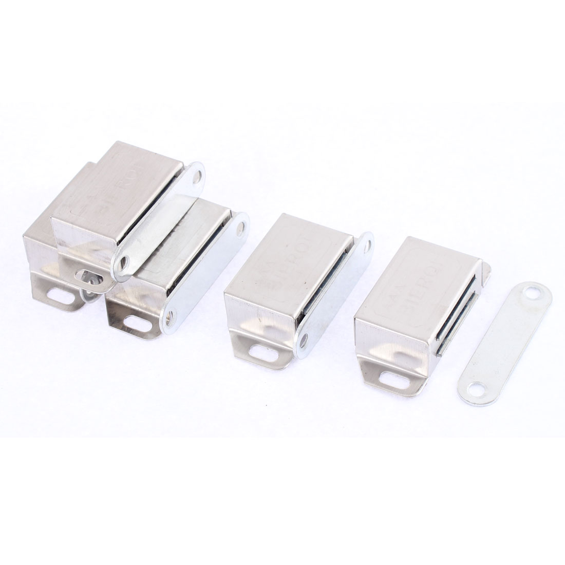 5 Pcs Stainless Steel Cupboard Cabinet Furniture Magnetic Catch Door Latch