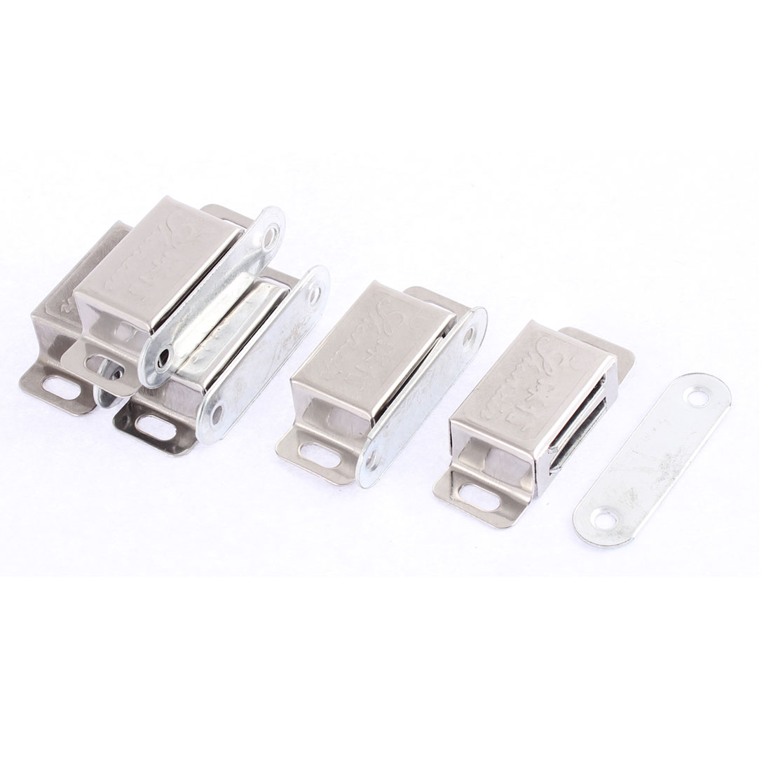 5 Pcs Stainless Steel Cupboard Furniture Magnetic Catch Door Latch 48mm x 21mm