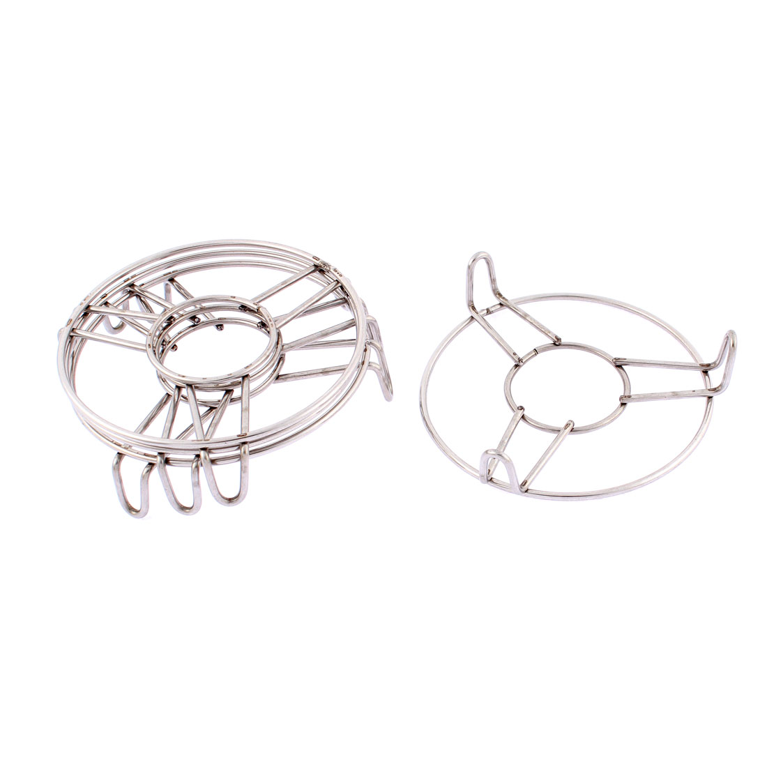 Home Stainless Steel Food Steaming Rack Stand 4 Inch x 1 Inch 4 Pcs