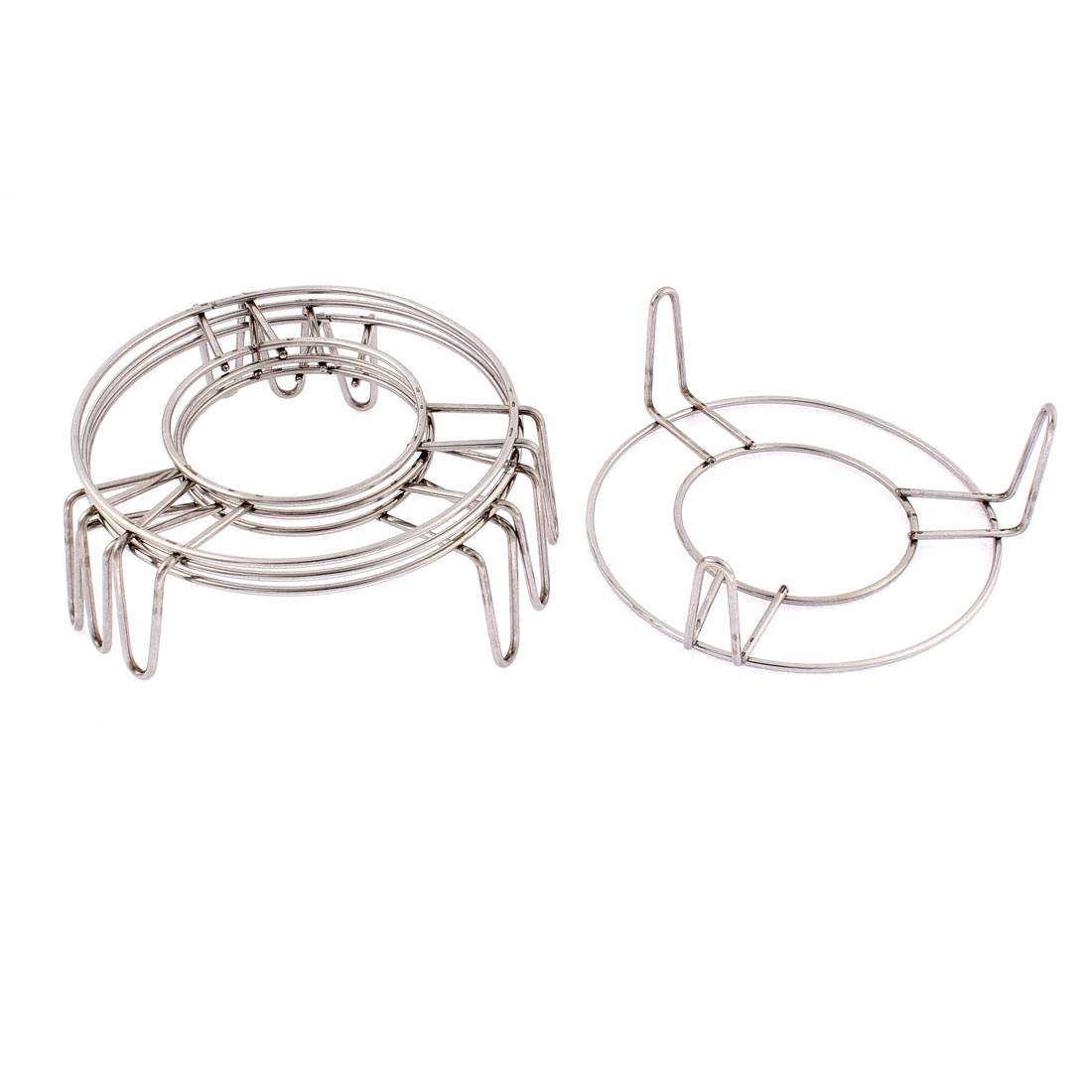 Kitchen Stainless Steel Steaming Rack Stand 5 Inch x 2 Inch 4 Pcs