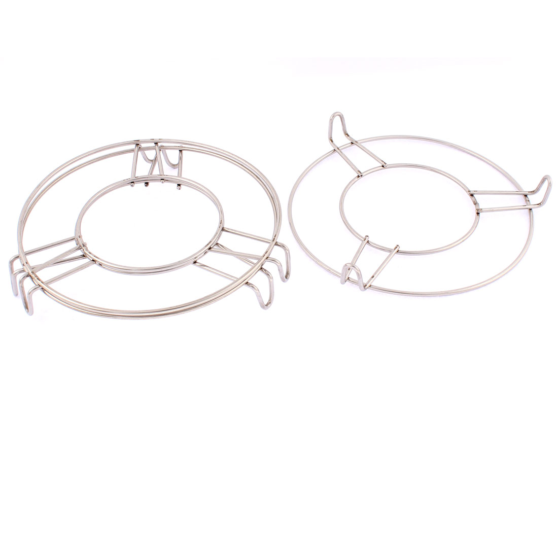 Stainless Steel Round Steaming Rack Stand 6 Inch x 1 Inch 3 Pcs