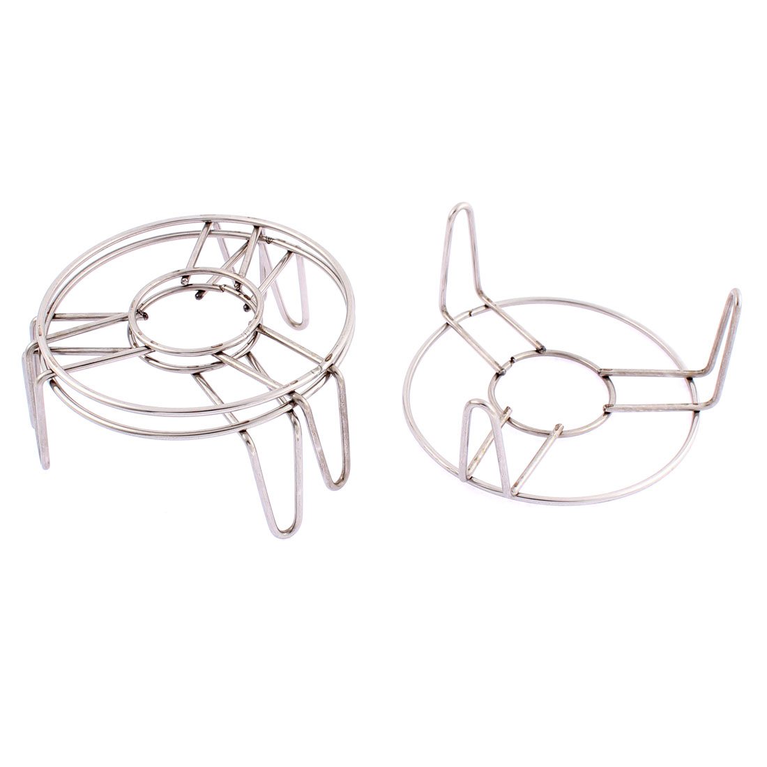 Home Stainless Steel Food Steaming Rack Stand 4 Inch x 2 Inch 3 Pcs